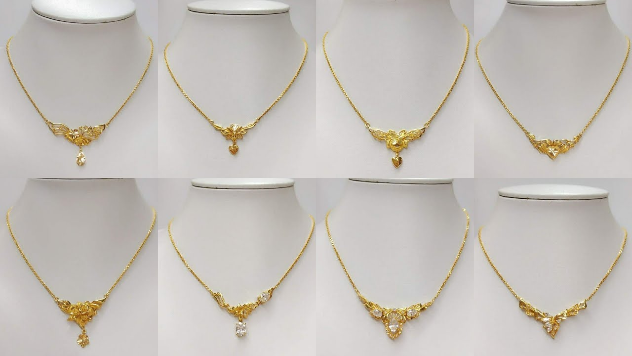 4388d06f4b1fa Korean chain necklaces designs In light weight Gold