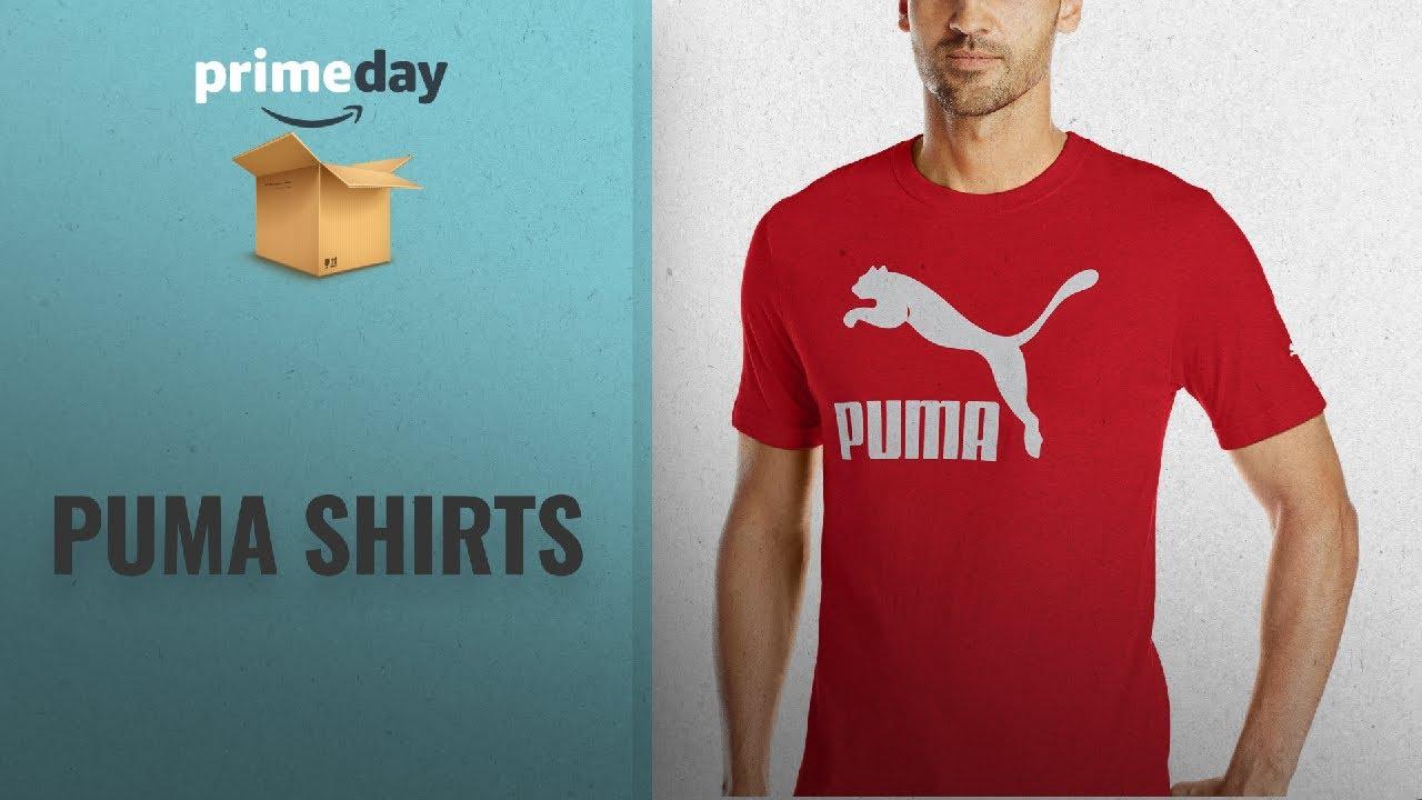 fdac0494859 Save Big On Puma Shirts | Prime Day 2018: PUMA Men's Archive Life T-Shirt, Flame  Scarlet White, L
