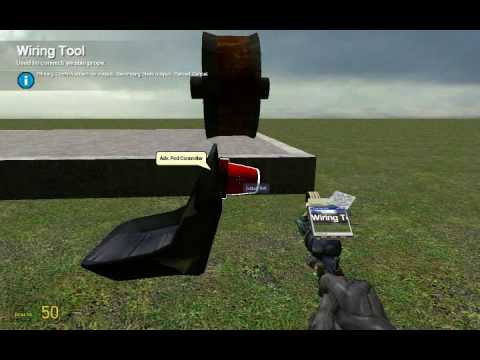 GMOD: How To Make A Wired Turret That Aims Where You Look