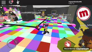 Playing Roblox meepcity at Baile Funk 😎😎
