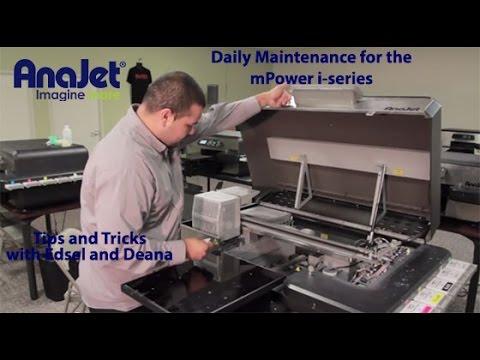 93146399 AnaJet mPower i-series Daily Maintenance ( T-Shirt Direct To Garment
