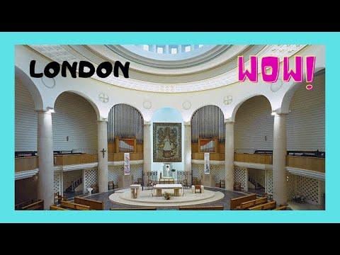 LONDON: The beautiful CHURCH of NOTRE DAME de FRANCE