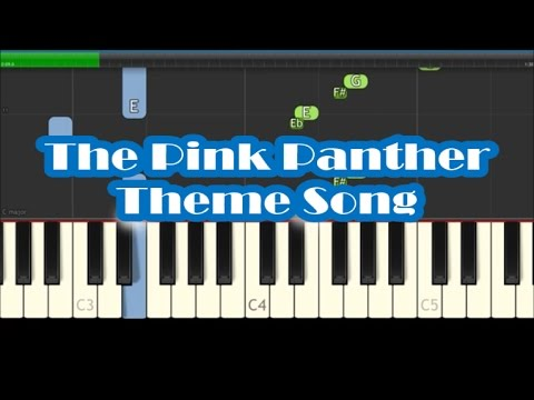 How to play the pink panther theme (piano tutorial lesson) youtube.