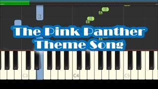 The Pink Panther Theme Song Easy Piano Tutorial