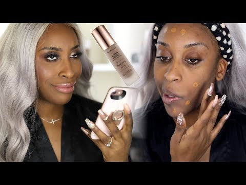 Matching Your Foundation With Your iPHONE?! Fresh Faced Liquid Foundation Demo   Jackie Aina