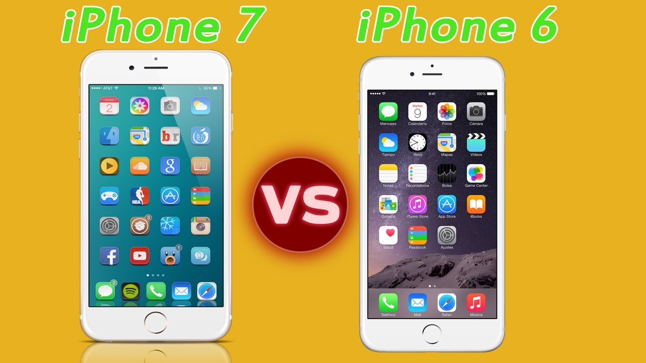 compare new iphone 7 vs iphone 6 features and specification youtube