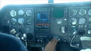 Cessna 310 Start Up-Take off- Slow flight-Power off stall- emergency decsent-landing