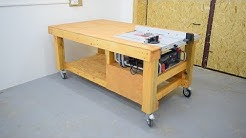 Homemade table with built saw