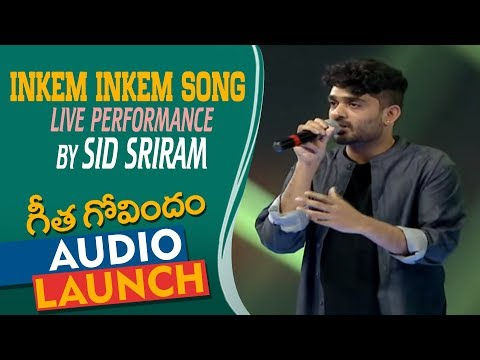 Inkem Inkem Song Live Performance By Sid Sriram At Geetha Govindam Audio Launch | Vijay Deverakonda Mp3