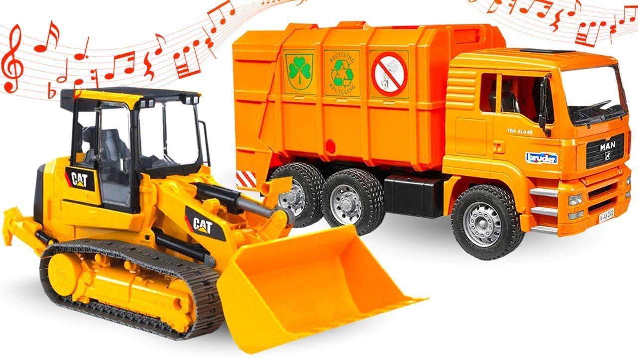 Bruder oyuncakları. Çöp kamyonu! Erkek çocuklar için araba oyunu