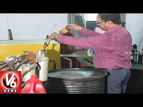 Hyderabad Man Makes Petrol And Diesel From Plastic Waste | V6 News