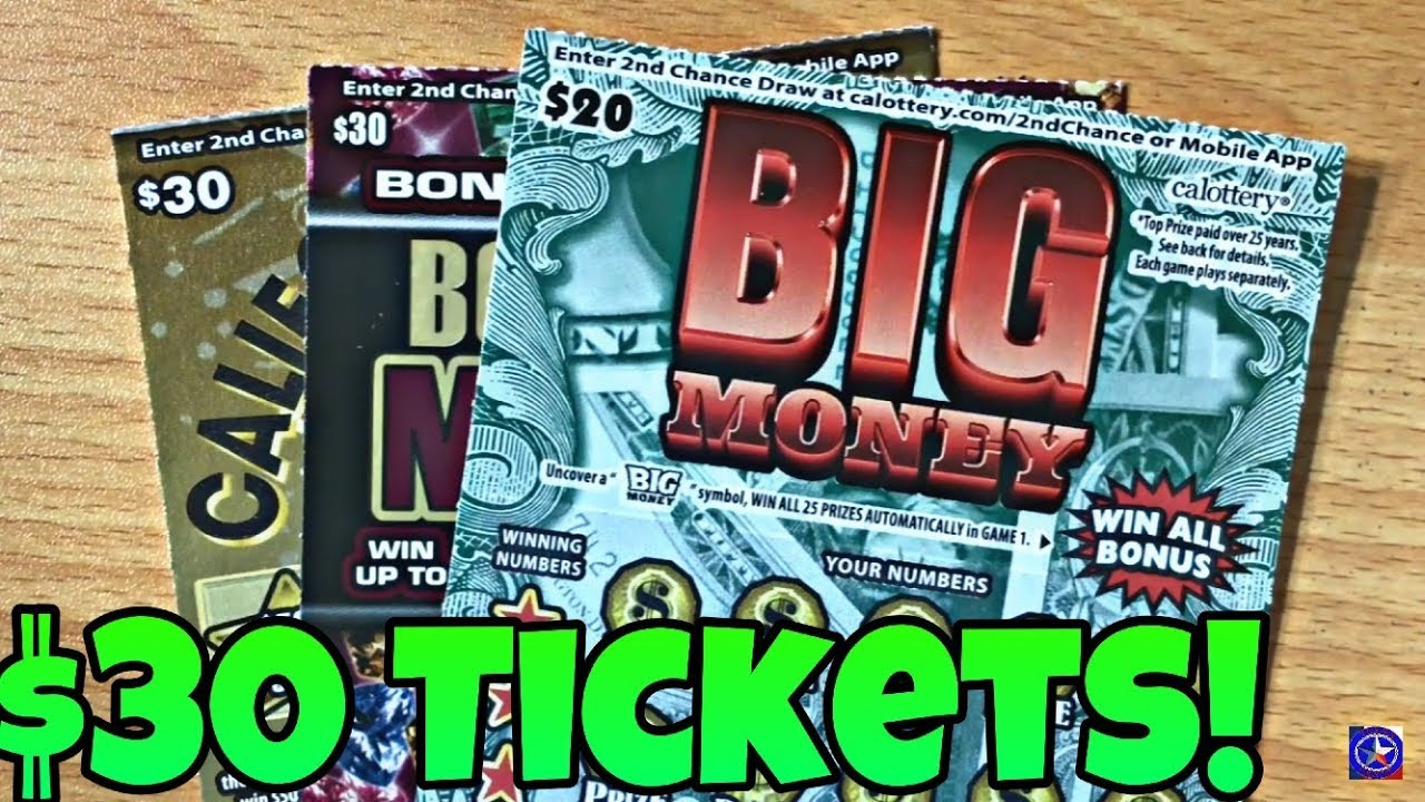 BIG $80 SESSION FROM THE CALIFORNIA LOTTERY!! California Lottery Scratch  Tickets