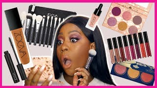 TRYING TO MAKE A MAKE-UP ONLY WITH ZOEVA COSMETICS, IS IT POSSIBLE? - MAKEUP TUTORIAL ON DARK SKIN