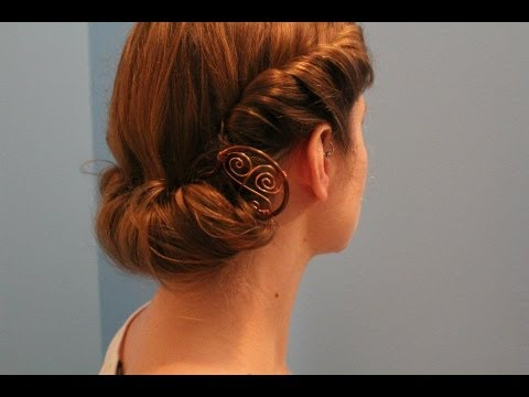 """rainy day """"roll & tuck"""" hairstyle"""
