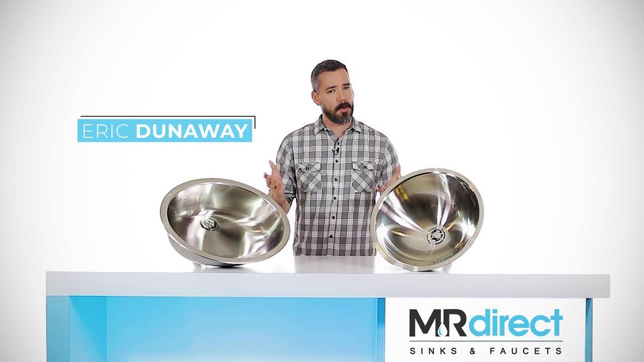 MR Direct | Stainless Steel Bathroom Sinks Showcase - YouTube