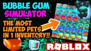 BEST LIMITED INVENTORY IN THE GAME?!? (Bubble Gum Simulator Roblox)