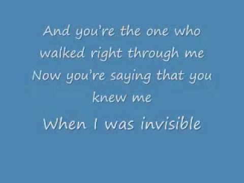 Invisible - Ashley Simpson - Lyrics