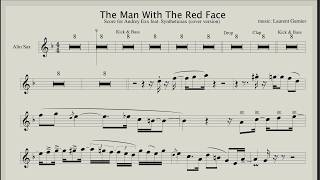 The Man With The Red Face - Backing track & sheet music for Saxophone