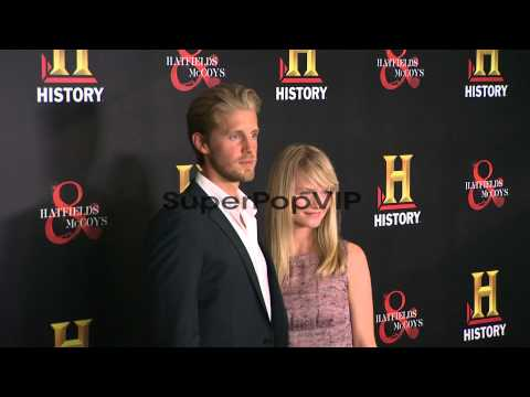 Matt Barr and Lindsay Pulsipher at HISTORY�?s HATFIELDS a...