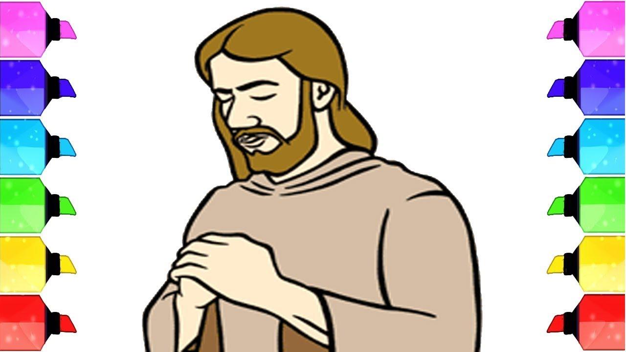 Coloring Page Jesus Praying
