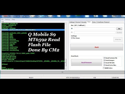 Q Mobile S9 MT6592 Read Flash File Done By CM2
