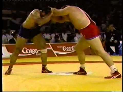 Soleimani Karbalayee,Ali Reza (IRI) - Baumgartner,Bruce (USA) + 100 kg.Final. 1989 Chempionat mira.