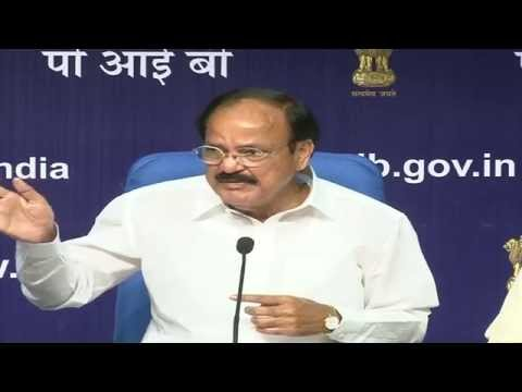 Shri M. Venkaiah Naidu addresses media on one year of Swachh Bharat Mission