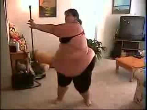 Fat lady working out funniest video in the world  YouTube
