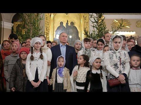شاهد: إحياء قداس عيد ميلاد المسيح لدى الأرثودوكس في روسيا بحضور بوتين…  - 09:53-2019 / 1 / 7