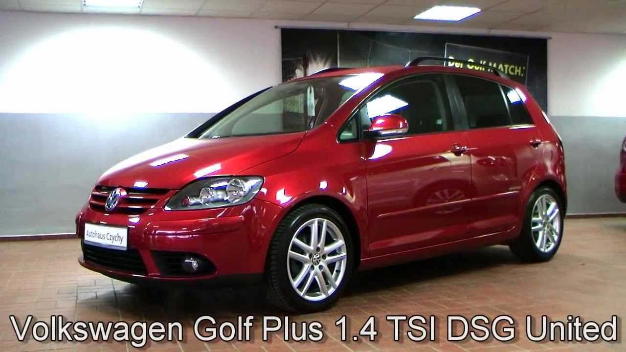 volkswagen golf plus 1 4 tsi dsg united 2008 sunset red. Black Bedroom Furniture Sets. Home Design Ideas