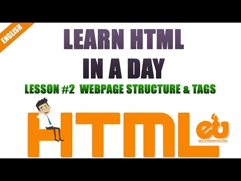 Learn HTML In A Day- Session2- HTML Body, Head & Title Tags To Format Webpages