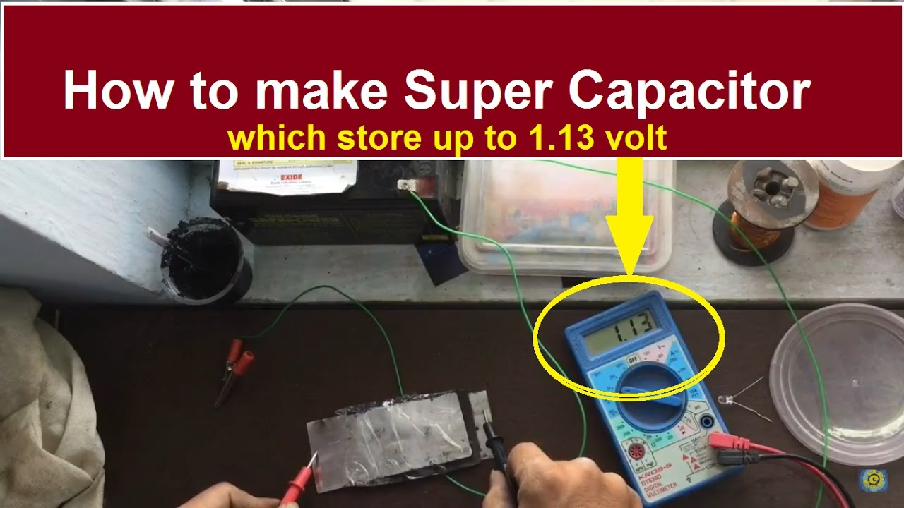 how to make a supercapacitor at home