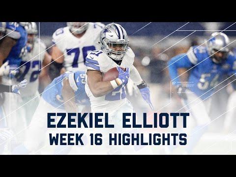 Ezekiel Elliott 80 Rush Yards & 2 TDs! | Lions vs. Cowboys | NFL Week 16 Player Highlights