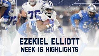 Ezekiel Elliott 80 Rush Yards & 2 TDs!   Lions vs. Cowboys   NFL Week 16 Player Highlights