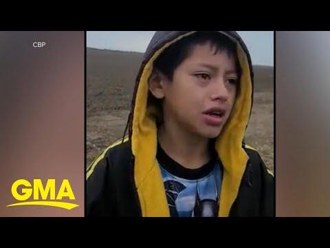 Abandoned boy near border asks immigration officer for help l GMA