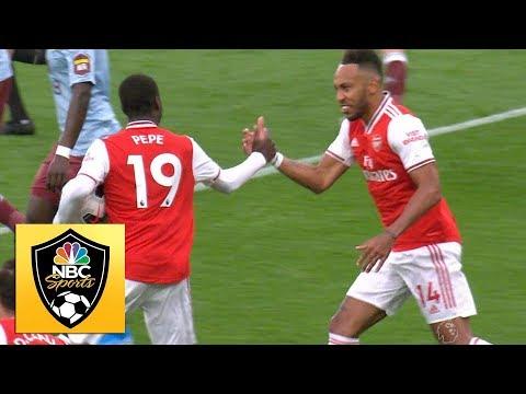 Nicolas Pepe Scores Penalty To Equalize For Arsenal Vs Aston Villa | Premier League | NBC Sports