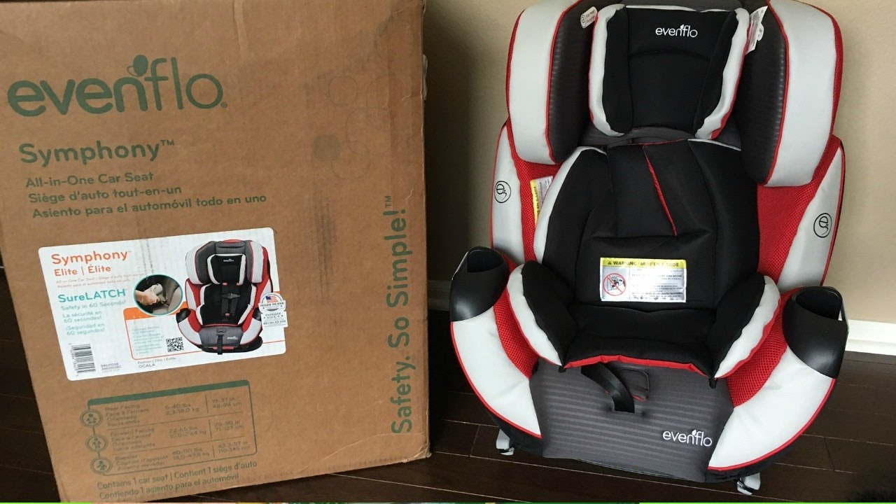 Car Seat Review Evenflo Symphony Elite Surelatch All In One Car Seat