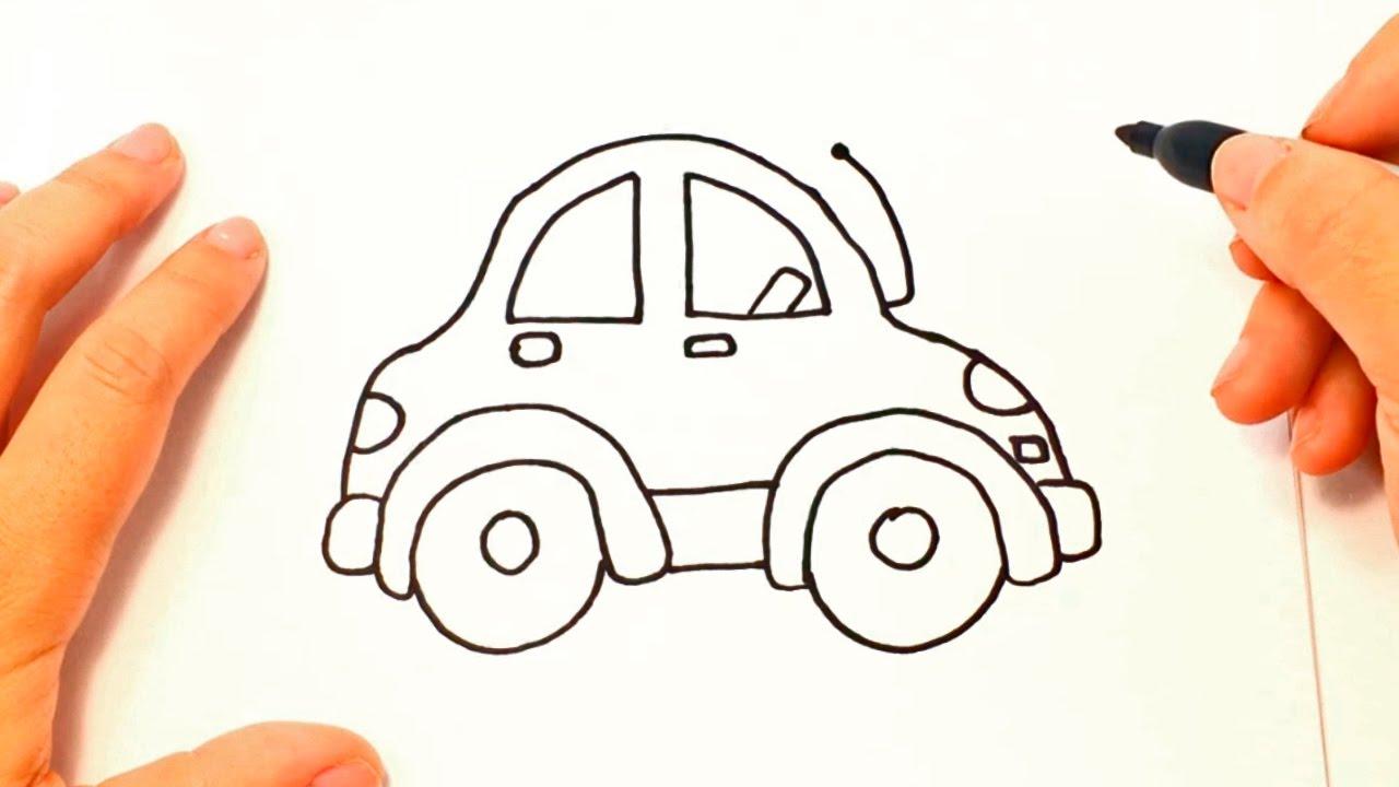 Como dibujar un auto paso a paso dibujo facil de auto for Comedor facil de dibujar