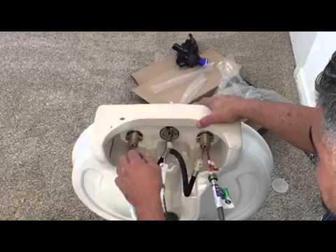 C mo instalar un lavamanos de pedestal trailer j emanuel - Como cambiar un lavabo ...