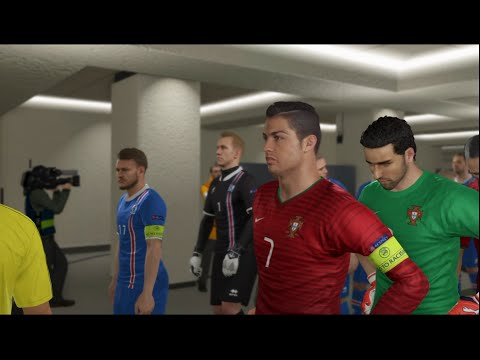 Portugal VS Iceland-Pes 2016 Game play/ Euro 2016 prediction/ PS4 Games