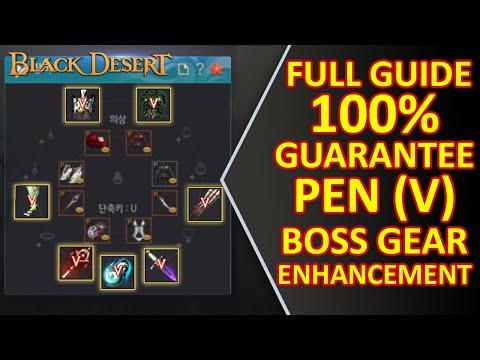 FULL GUIDE GUARANTEE 100% PEN Boss Gear Enhancement Method Jetina Weapon & Defense Gear Black Desert
