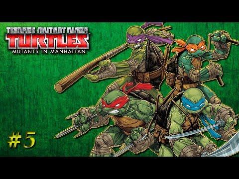 Teenage Mutant Ninja Turtles Mutants In Manhattan - Blind Let's Play - Part 5