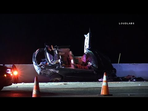 91 Fwy Wrong Way Crash / Corona RAW FOOTAGE