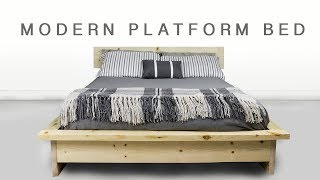 How To Make A  DIY Modern Platform Bed | Shape And Explore
