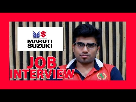 job interview videos for freshers in india - Maruti Suzuki