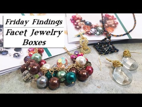 What's Inside the Facet Jewelry Boxes? Beads & Findings Kits Right To Your Door!
