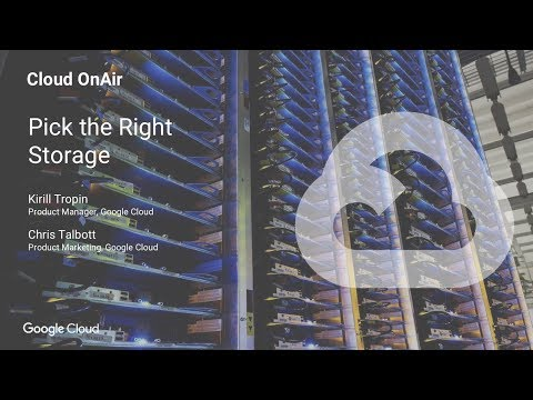 Cloud OnAir: How to select the right storage class to optimize performance for your workload -