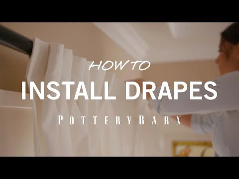 How to Install Drapes
