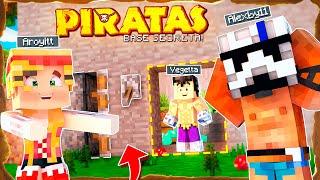 LA BASE SECRETA DE LOS FUGITIVOS WILLY Y FARGAN - Minecraft Piratas