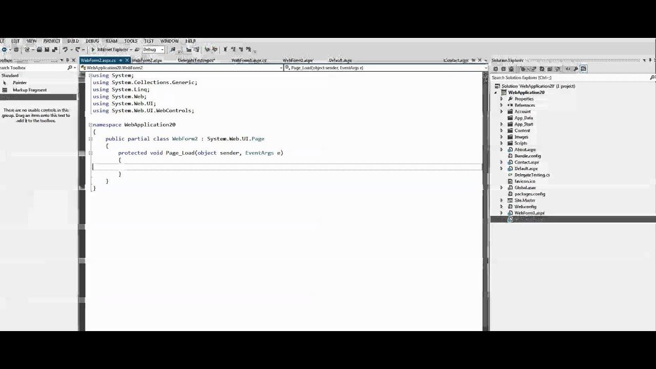 C Simple Delegate Example Youtube